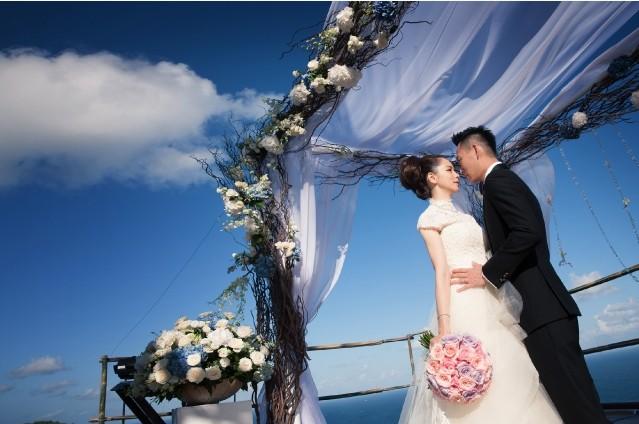 徐若瑄與老公李雲峰Sean Lee在峇里島The Edge Bali Villa舉行派對婚禮