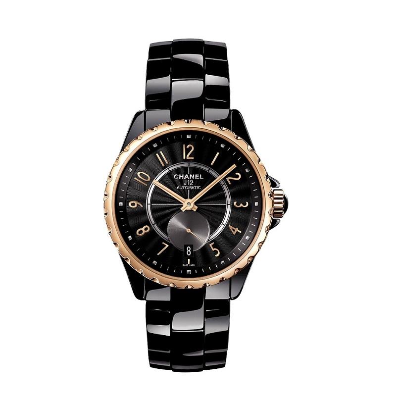 J12-365 黑色BEIGE米色金腕錶