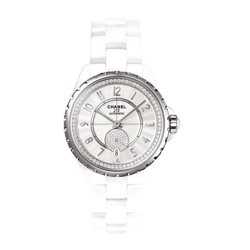 J12-365白色精鋼鑽石腕錶