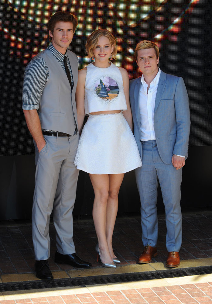 Liam Hemsworth, Jennifer Lawrence and Sam Claflin