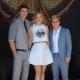 Liam Hemsworth, Jennifer Lawrence and Sam Claflin