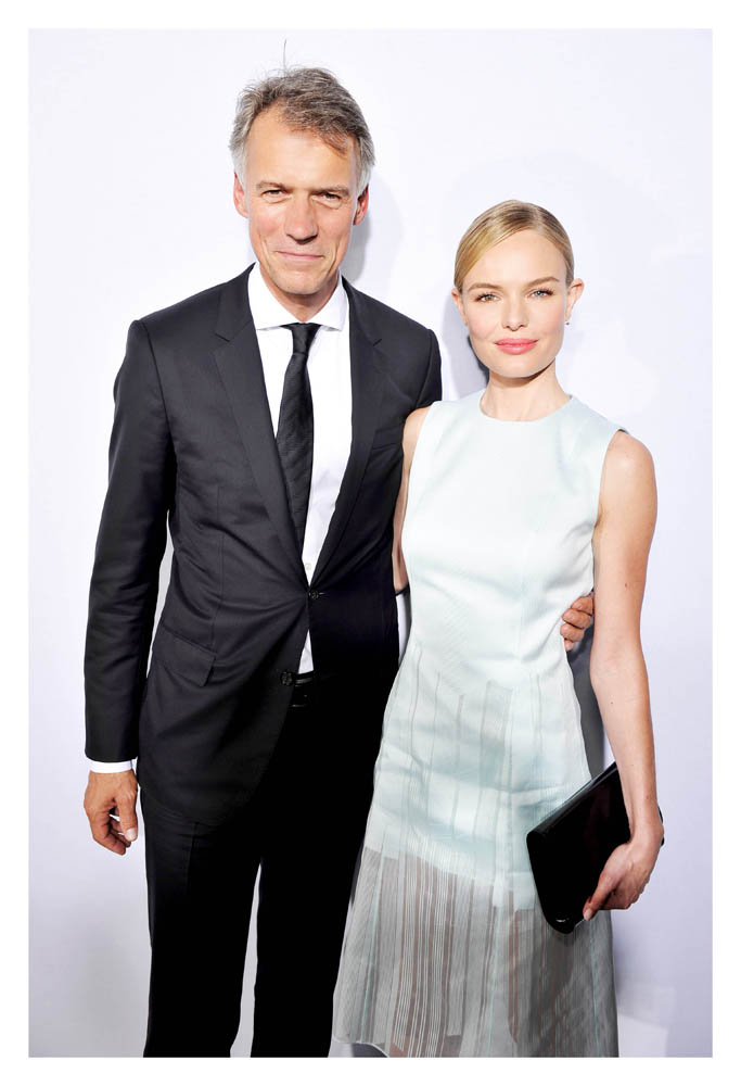 HUGO BOSS主席暨行政總裁Claus-Dietrich Lahrs and Kate Bosworth(凱特柏茲沃斯)
