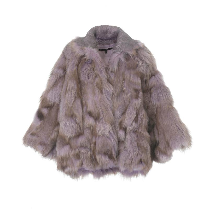 粉紫色皮草大衣,Shiatzy Chen,NT148,000。