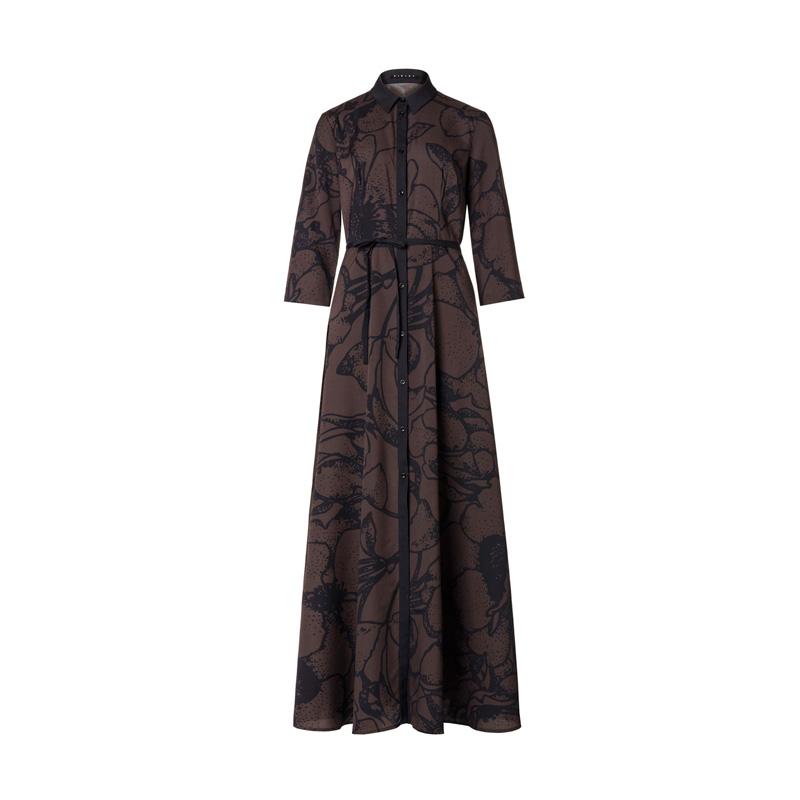 花卉線條長洋裝,Sisley,NT3,380。