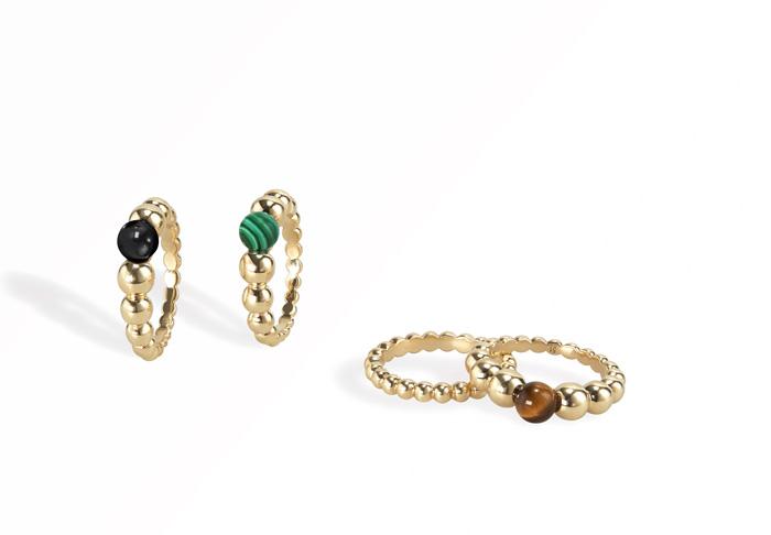 除了可愛的蝴蝶和幸運草,Van Cleef & Arpels 最廣為人知的設計還有 Perlée