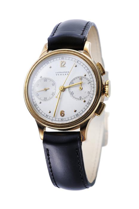 浪琴錶 18k金材質錶殼計時碼錶
