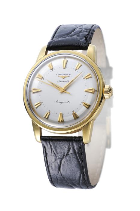 浪琴錶18K 金材質錶殼初代 Conquest 征服者腕錶