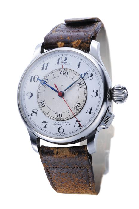 浪琴錶 不鏽鋼材質飛行腕錶