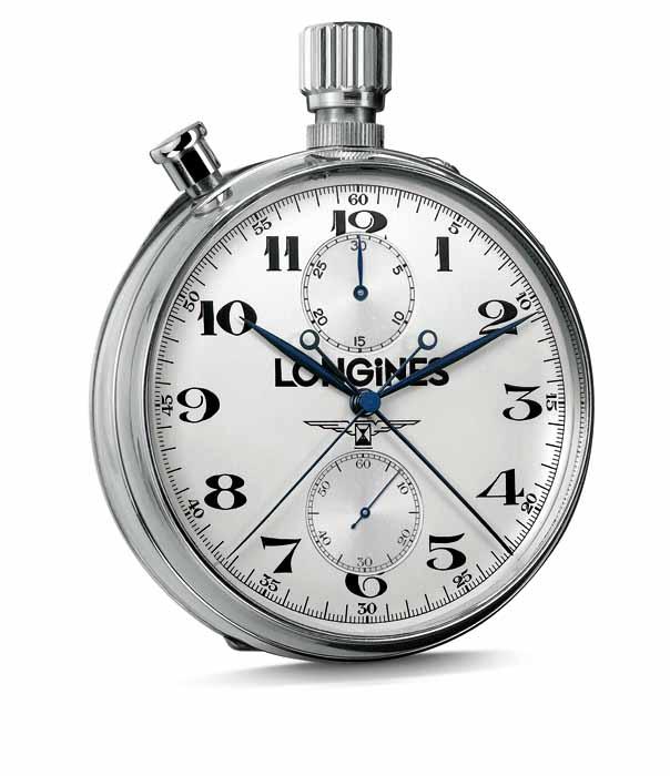 浪琴錶 .雙追針計時碼錶
