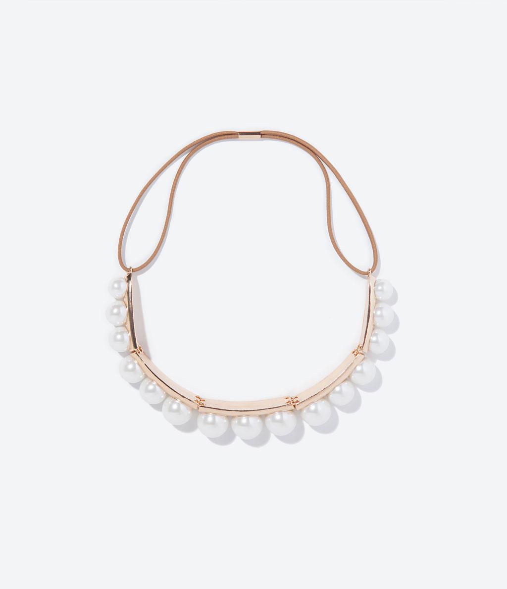 ZARA 珍珠頭箍NT$690