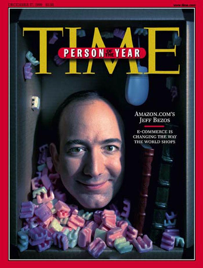 Jeff Bezos登上了美國時代雜誌封面、並成為2014年100位最具影響力的人物之ㄧ