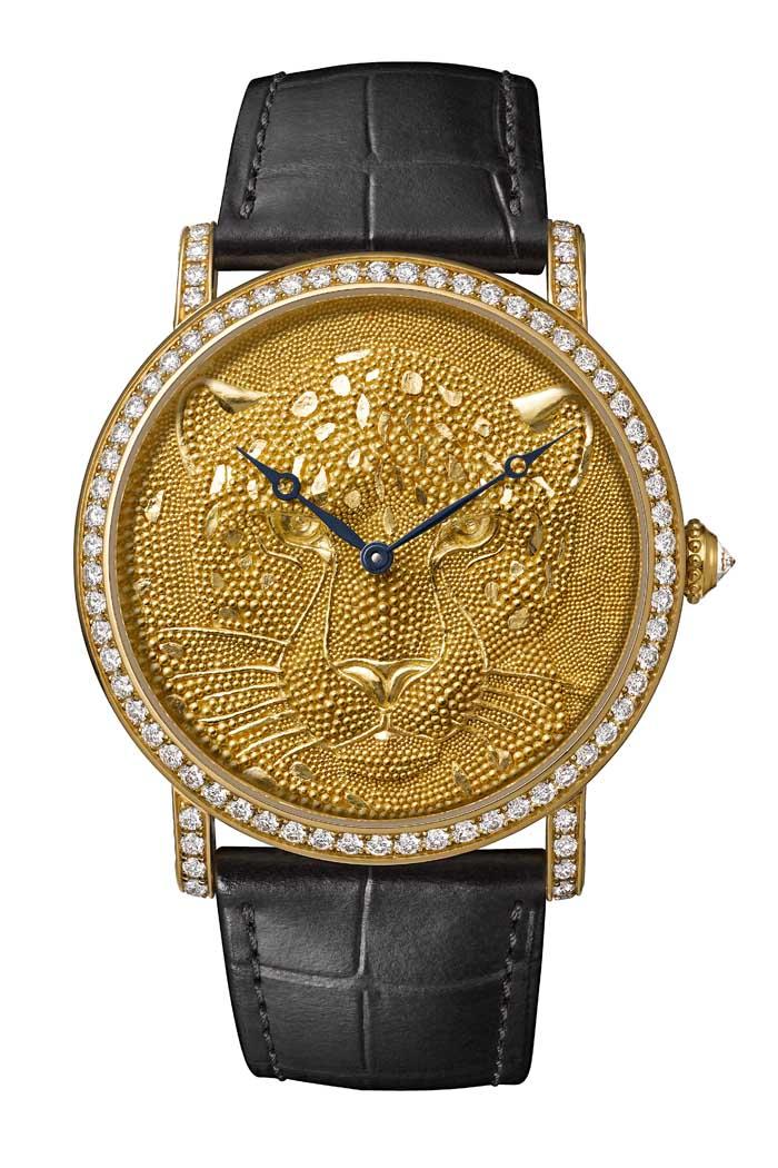 卡地亞Rotonde de Cartier 美洲豹裝飾腕 錶