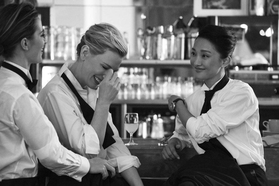 Cate Blanchett、Emily Blunt 與周迅,三位國際級女星,皆穿上了英挺的西裝,展現率性風貌,這樣的造型,則是與這回推出的中裝尺寸腕錶做出了呼應。