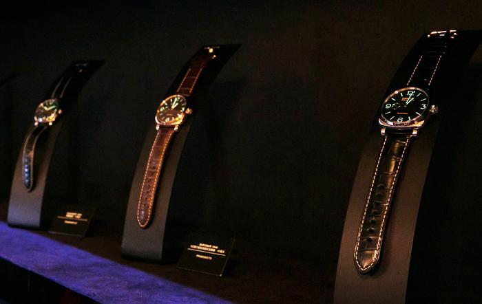 沛納海系列錶殼將展示於本區,完整地呈現出Radiomir錶殼 (1936開發) 蛻變至 Luminor 錶殼 (以1950年代設計為靈感,於90年代誕生) 的過程。