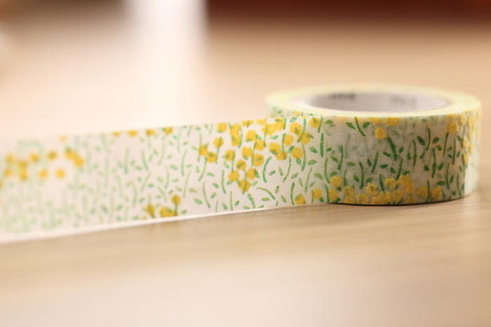 【日本mt】和紙膠帶(植絨) - 盎然的油菜花田