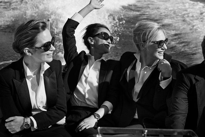 IWC邀請著名攝影師彼得‧林德伯格為Cate Blanchett、Emily Blunt 與周迅,三位國際級女星,皆穿上了英挺的西裝,展現率性風貌。