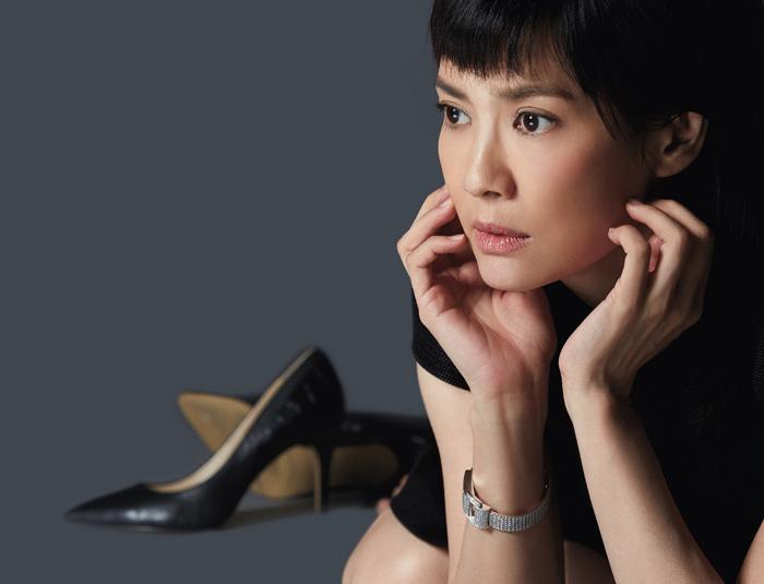 陳湘琪腕際閃爍耀眼的Miss Protocole鑲鑽腕錶,讓她簡單演繹自信美麗的一面