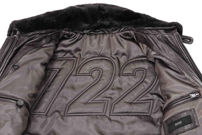 BOSS推出限量版皮衣,採用特殊3D縫製手法將數字722印刻於背部