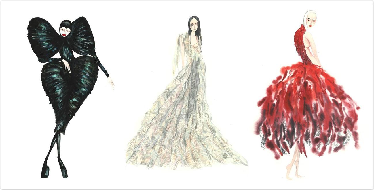 知名插畫家  帶你回顧 Alexander McQueen 10 套指標性設計!