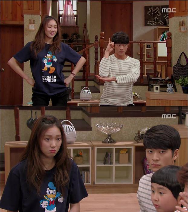 韓國人氣新星李聖經在戲中穿上SJYP聯名唐老鴨服裝