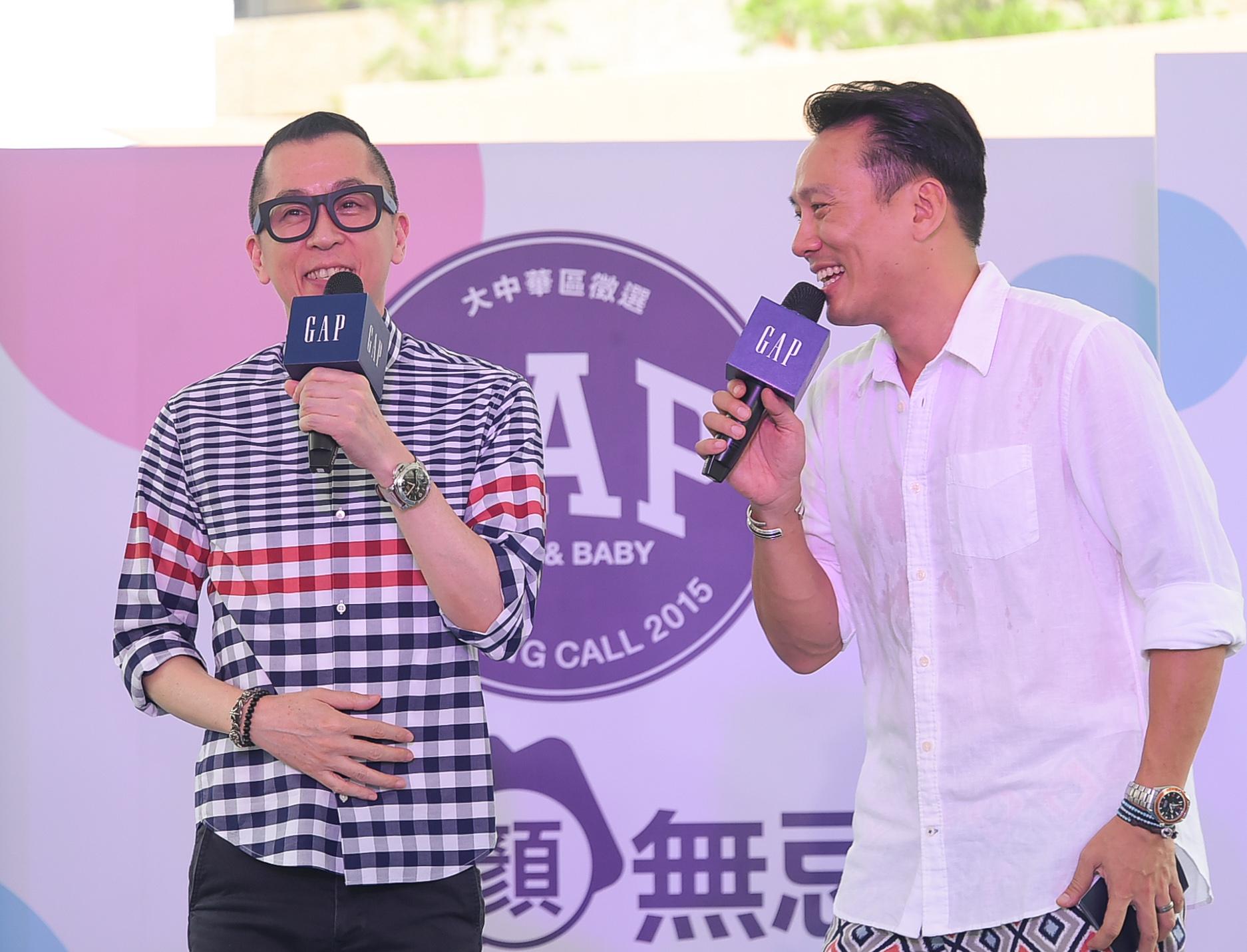 Gap Casting Call全球小小代言人征選大中華區活動台北站巡演特邀艾力克斯擔任主持,Roger鄭健國老師為小小模特打造夏日造型