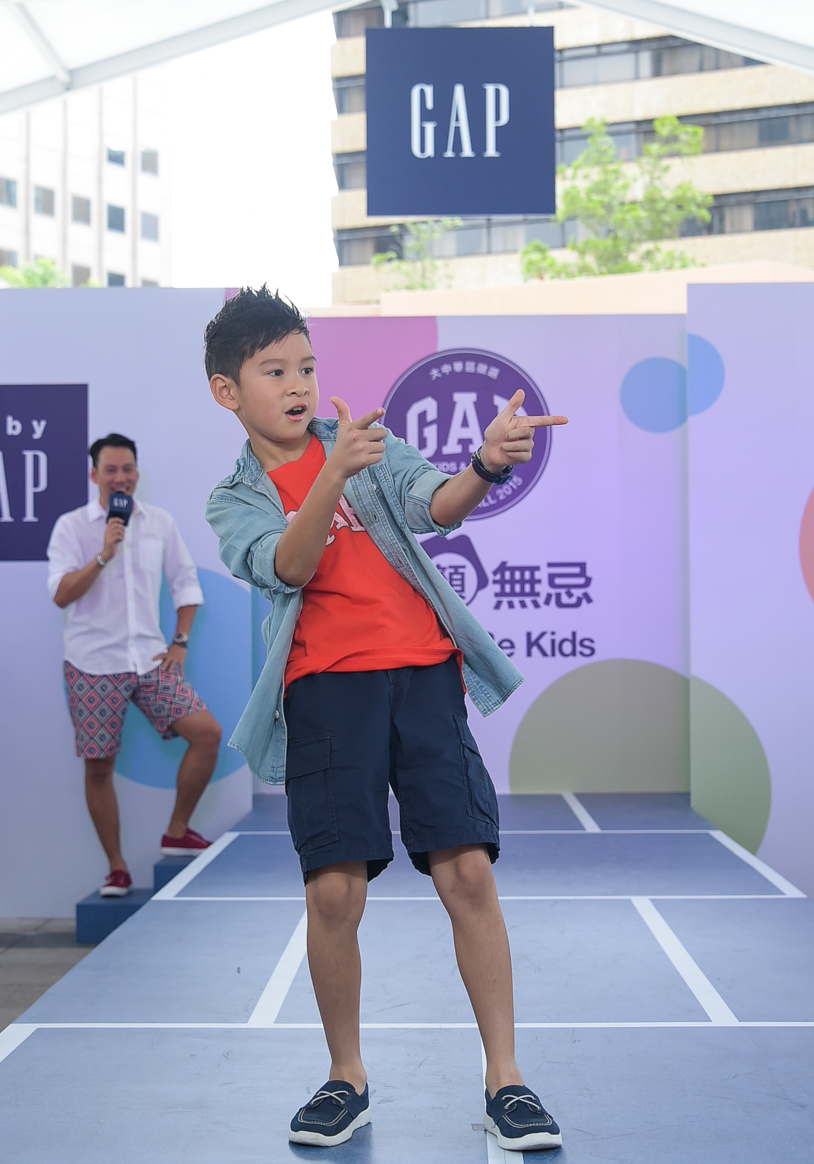 Ryder為Gap Casting Call全球小小代言人征選大中華區活動巡演獻上首次走秀
