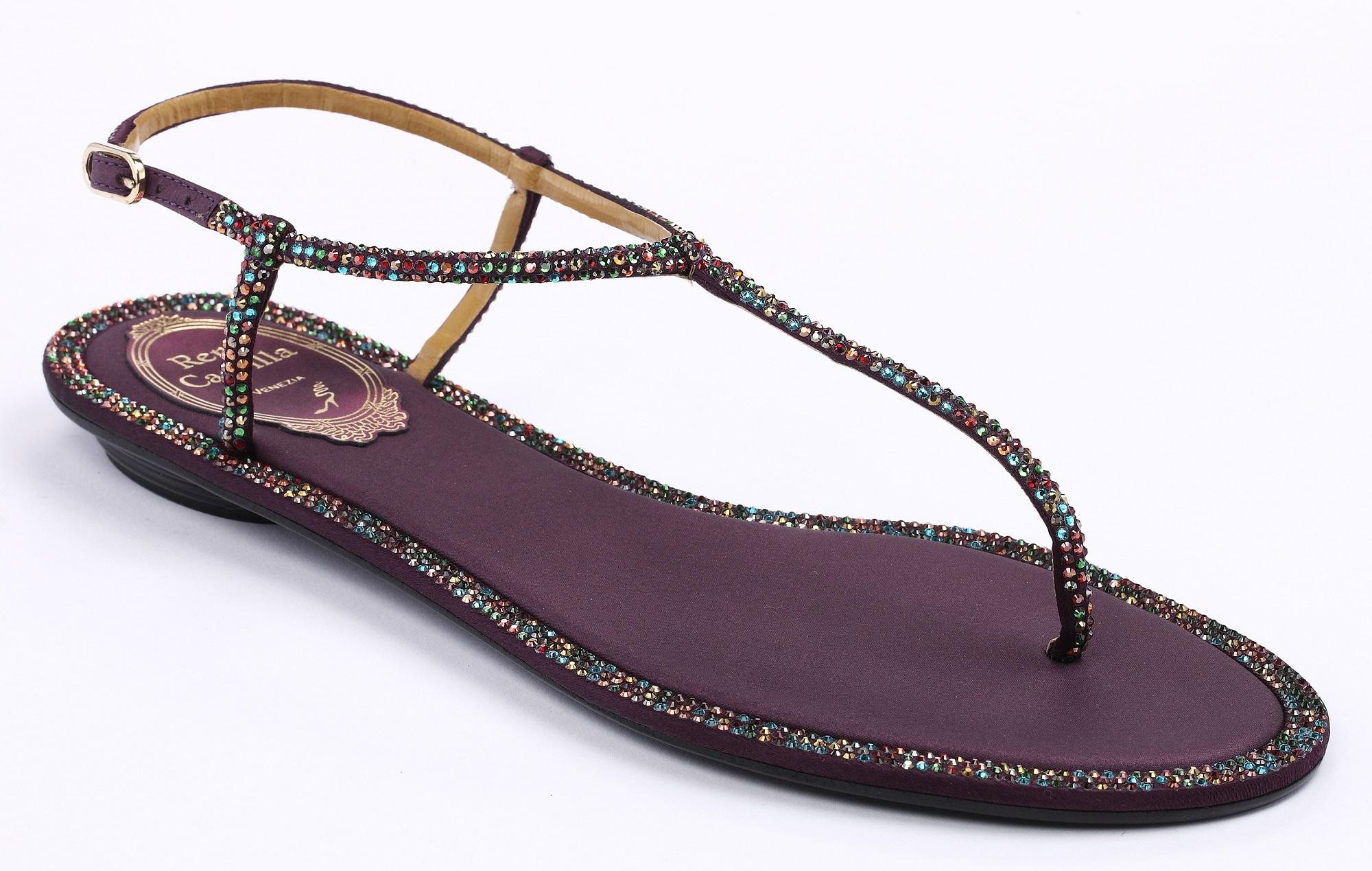 深紫T字鑽光平底涼鞋 NT$37,000