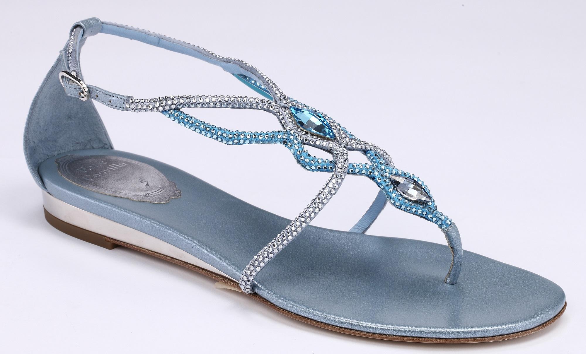 藍光交叉水晶平底涼鞋 NT$42,000
