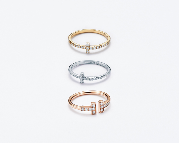 Tiffany T 鑲鑽戒指