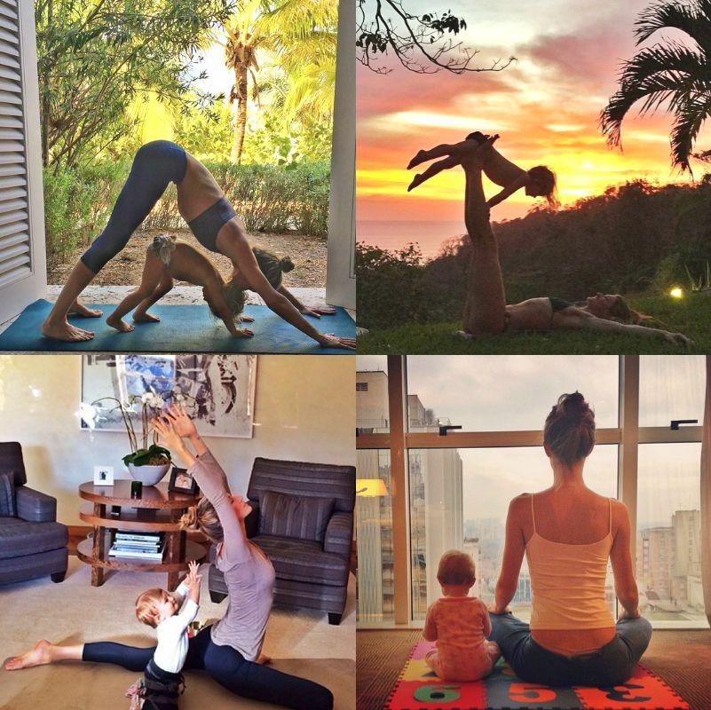 原來這就是動力?超模吉賽兒與萌寶貝的5堂雙人瑜珈課