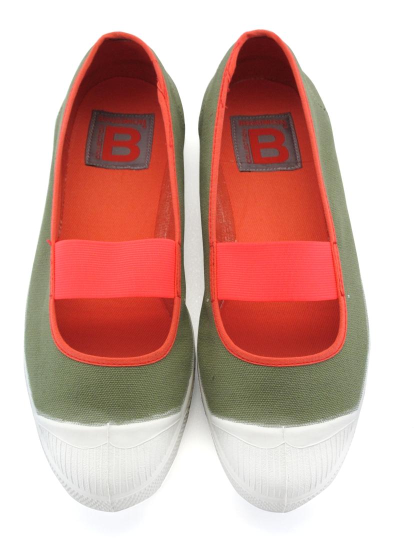BENSIMON 雙色鬆緊娃娃鞋