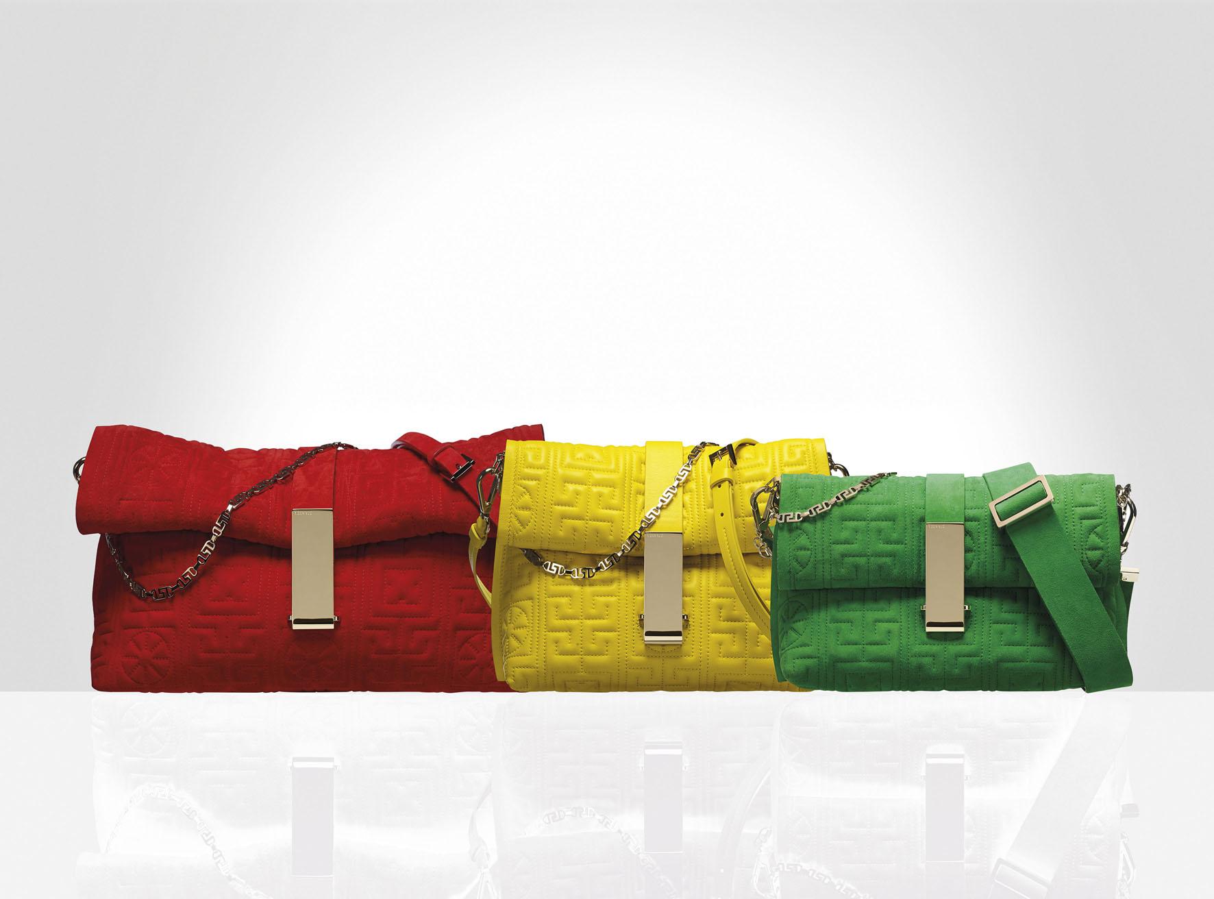 #GREEK 麂皮手提包 (左至右) TWD98,000/ TWD88,500/ TWD53,500