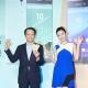 Sony Mobile 正式宣布兩款超級中階手機Xperia C5 Ultra與Xperia M5上市訊息,左為Sony Mobile總經理林志遠先生,右為代言人郭雪芙。