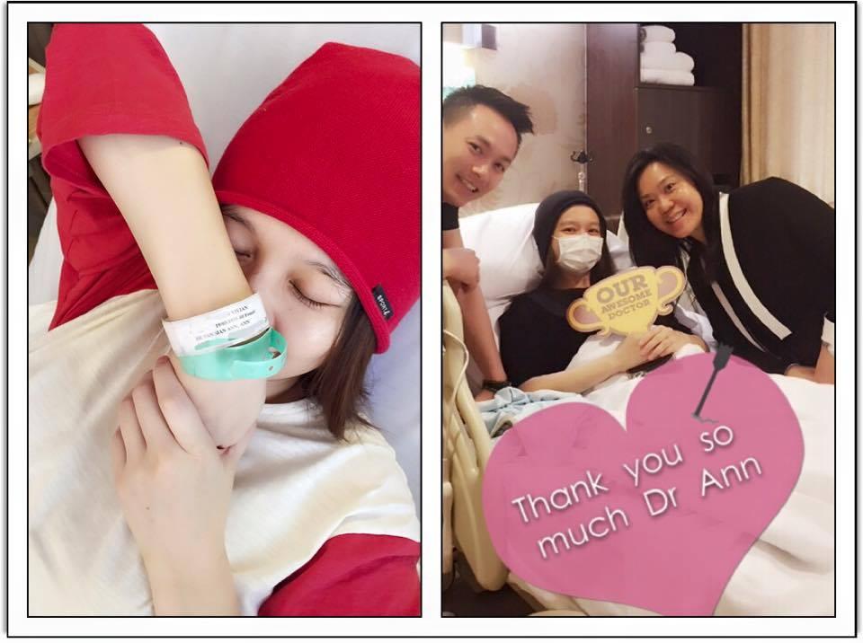 也非常感謝新加坡Mount Elizabeth Hospital(伊麗莎白醫院)全體貼心的醫護人員、廚房團隊長時間對我的照顧!每天準備有愛的營養餐~❤~我,終於可以剪掉名字手環,回家了!!