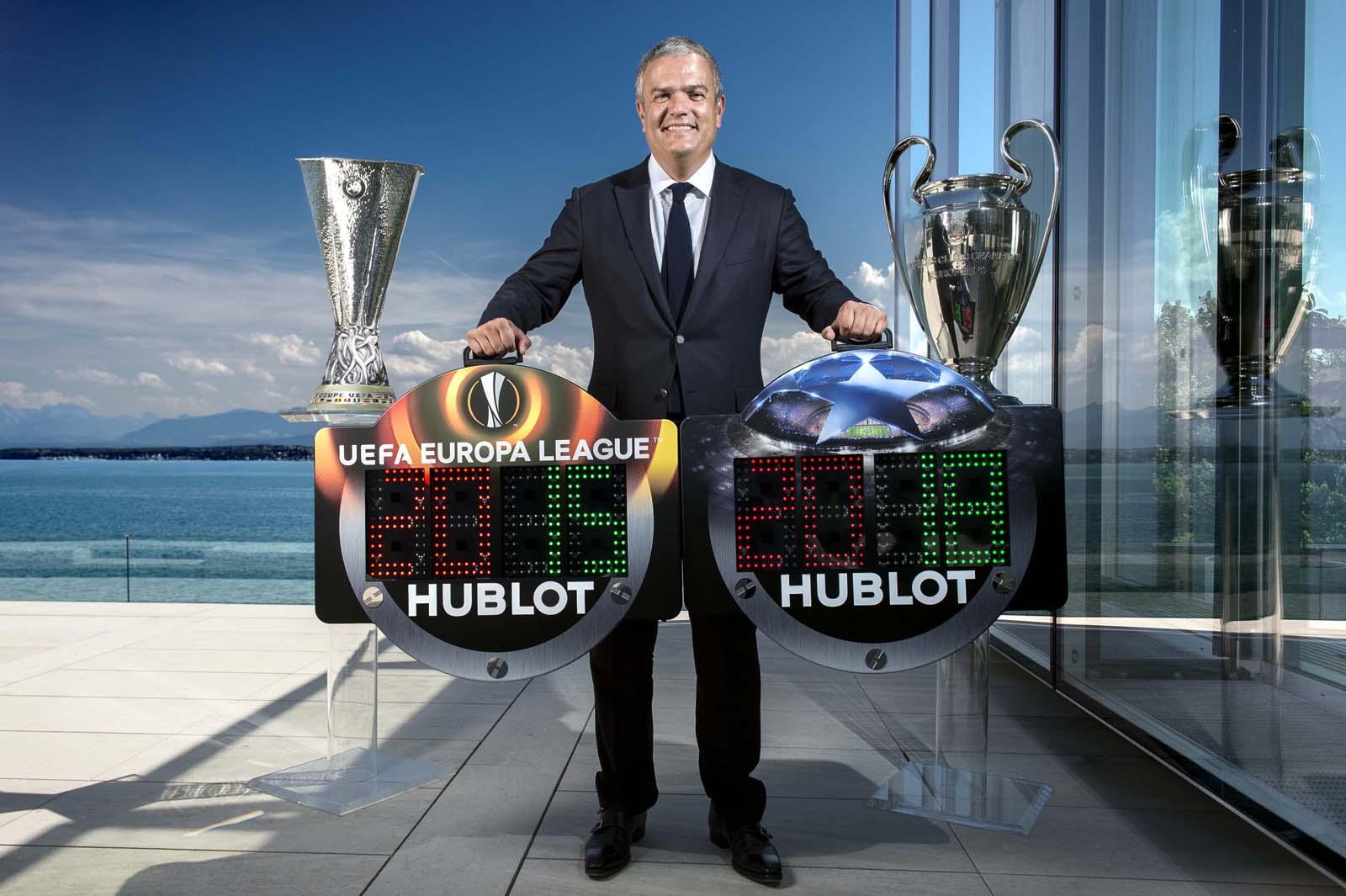 HUBLOT宇舶錶與歐洲足球總會再度聯手,為歐洲足球版圖增添色彩。