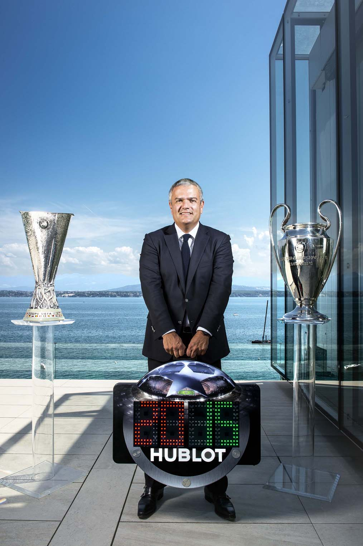 HUBLOT宇舶錶執行長Ricardo Guadalupe表示:「 能夠成為歐洲足球總會重要賽事的腕錶合作夥伴,對宇舶錶而言不僅是個無比榮耀的里程碑,更為彼此建立長久穩固的合作關係,我為我們共同達成的多項重要成就感到驕傲。作為宇舶錶最信賴的合作夥伴,歐洲足