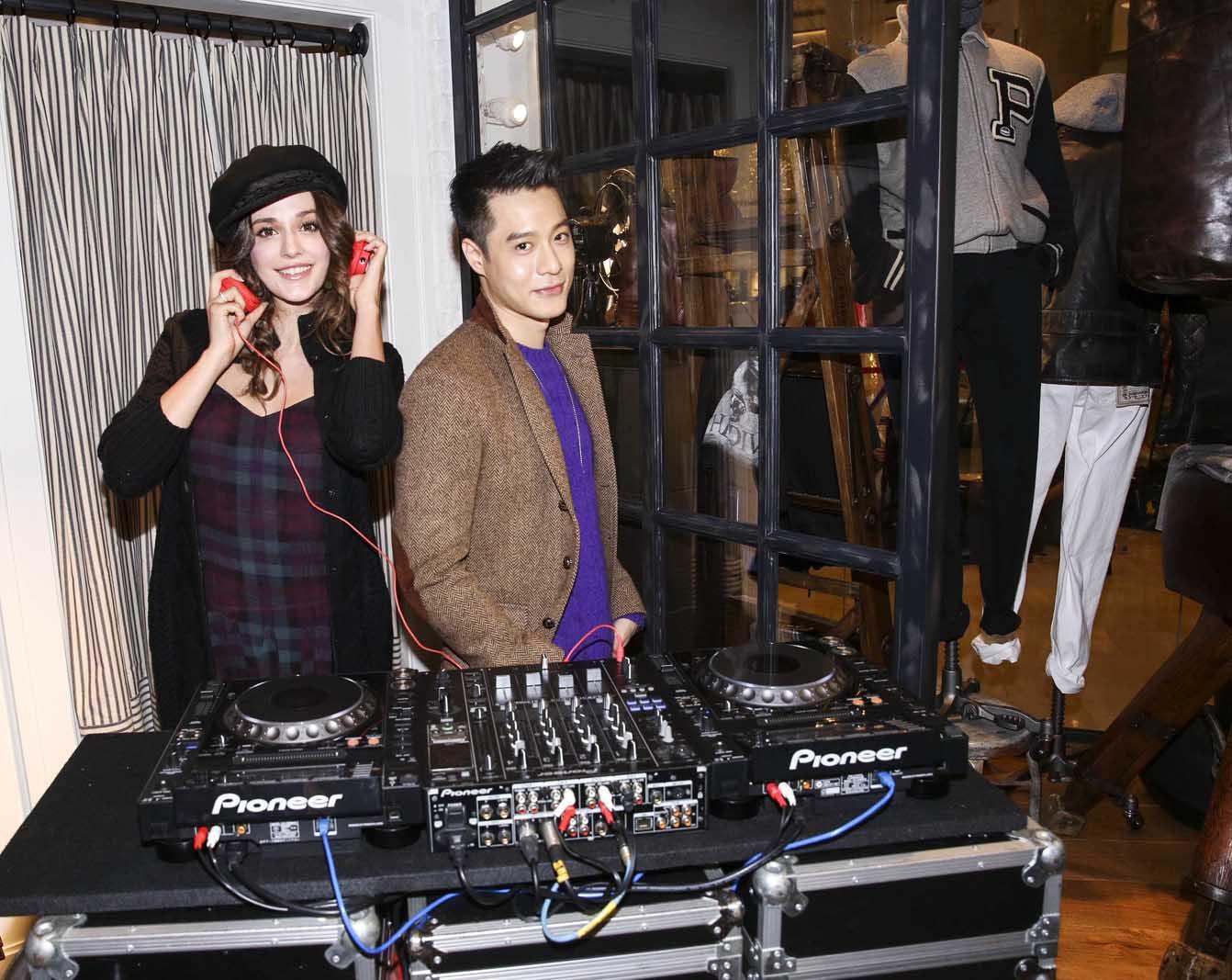 音樂才子 周湯豪與時尚名模 瑞莎同臺打碟