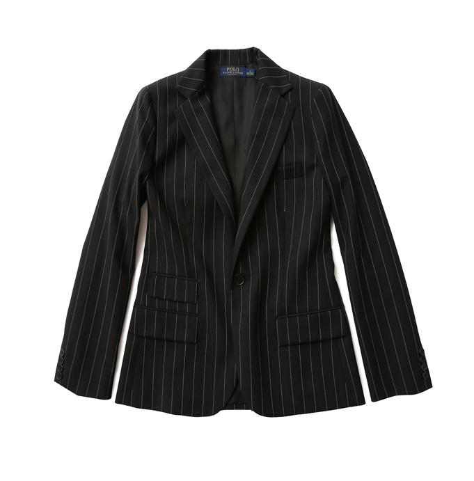 Polo Ralph Lauren Women 黑白幼條紋羊毛西裝外套 NTD26,080