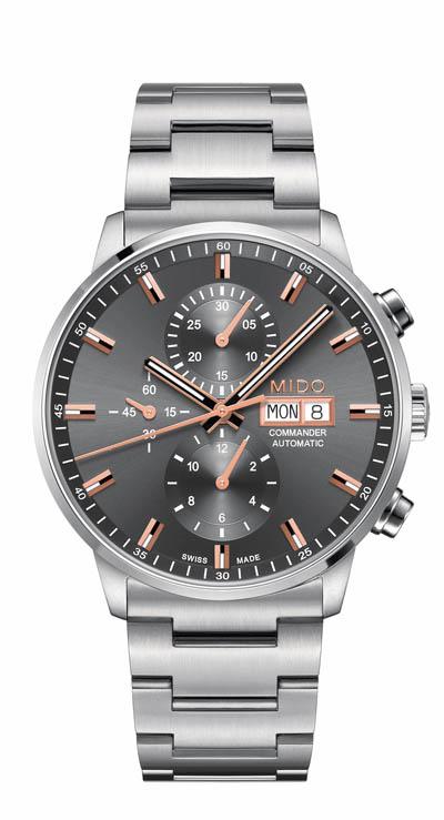 MIDO美度表台北101周年慶首賣商品 -香榭系列60小時計時腕錶灰金款 NT$ 63,200