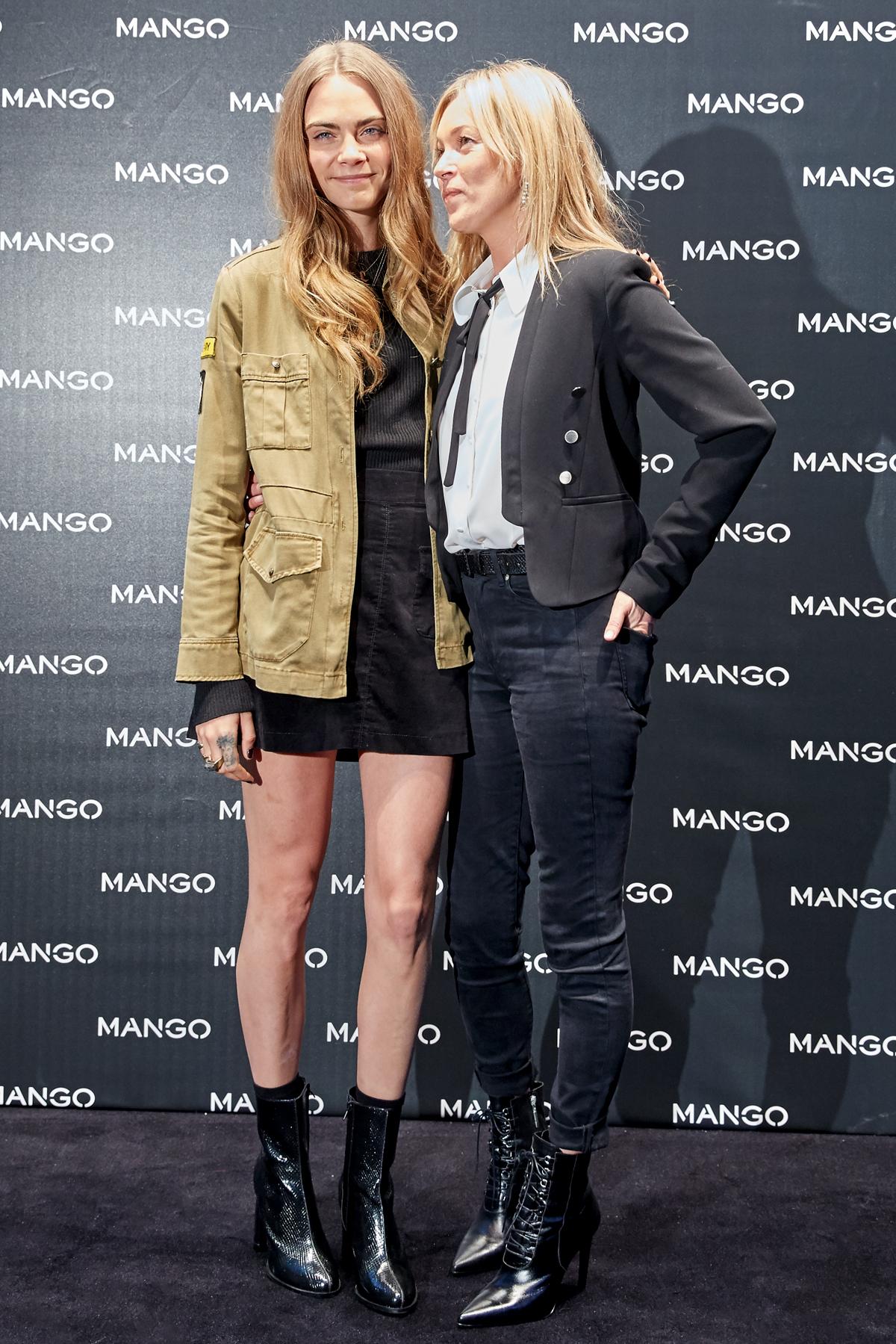 MANGO 2015 秋冬重量級品牌形象代言人Kate Moss以及Cara Delevingne共同出席 MANGO 在米蘭的代言記者會
