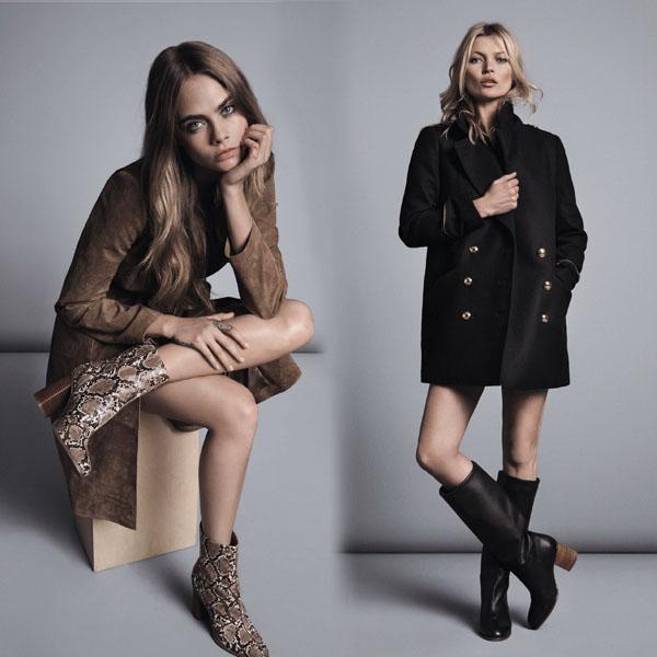 凱特與卡拉詮釋MANGO最新冬季時尚焦點-波西米亞風情