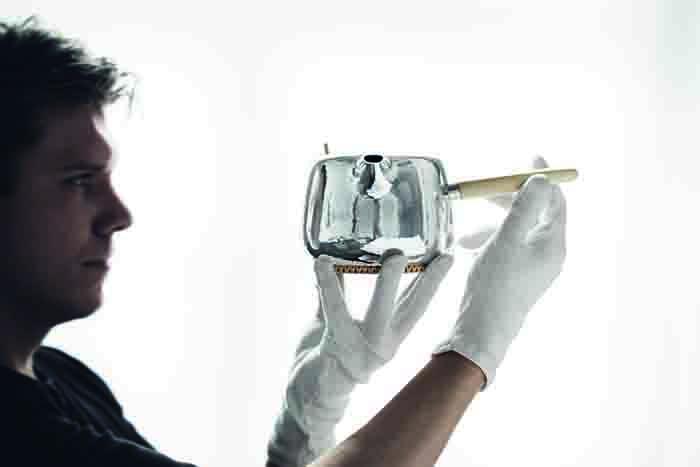 Marc Newson設計師款純銀茶組 製作