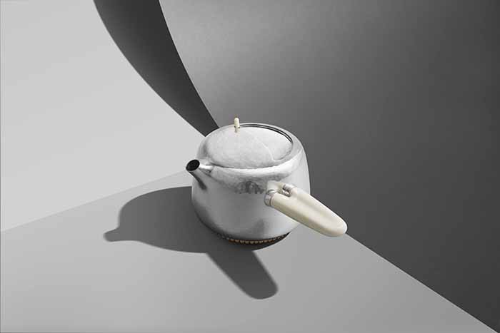 Marc Newson設計師款純銀茶組_情境照