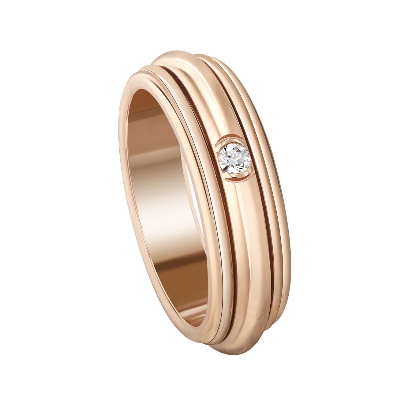 Piaget Possession 18K玫瑰金鑽石指環 參考售價81,000元起
