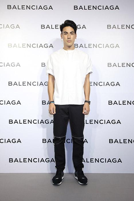 型男DJ白梓軒出席Balenciaga巴黎世家微風信義店開幕酒會星光大道