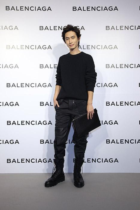 帥氣小生黃河出席Balenciaga巴黎世家微風信義店開幕酒會星光大道