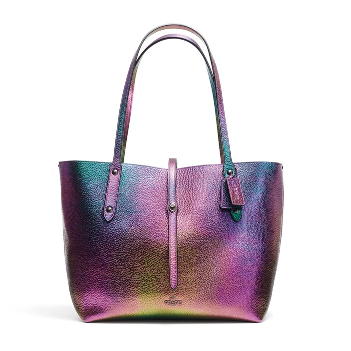 Hologram Leather Market Tote QBC0V TWD 22,800