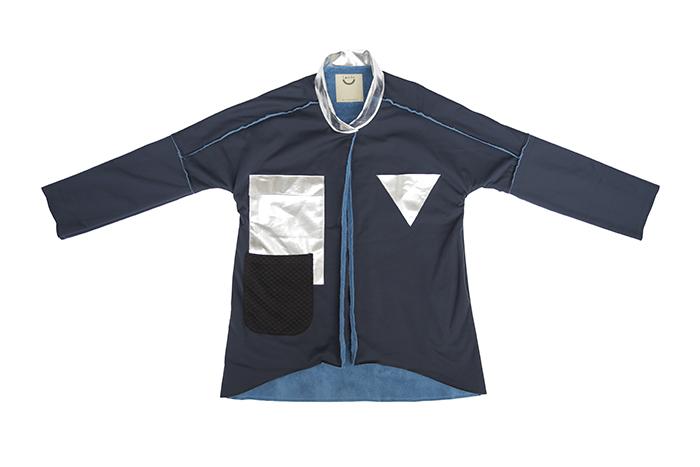 Linda Huang無性別計畫_機能太空大衣 (深海藍)$4580