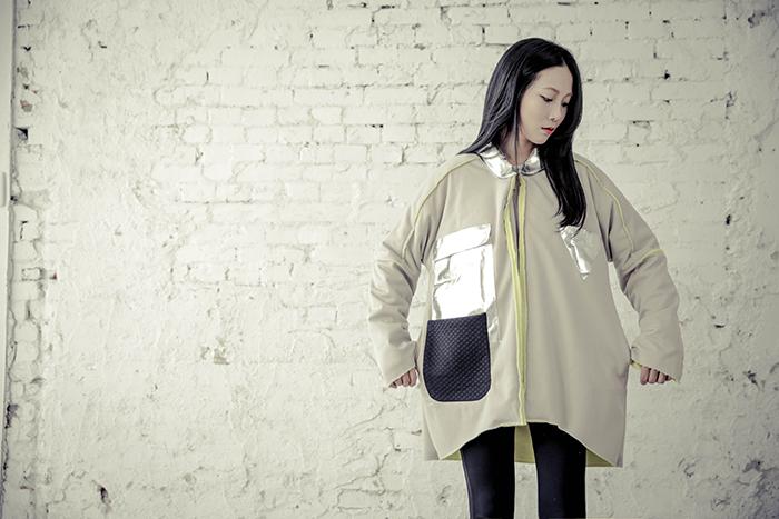 Linda Huang無性別計畫_機能太空大衣 (亞麻黃) $4580