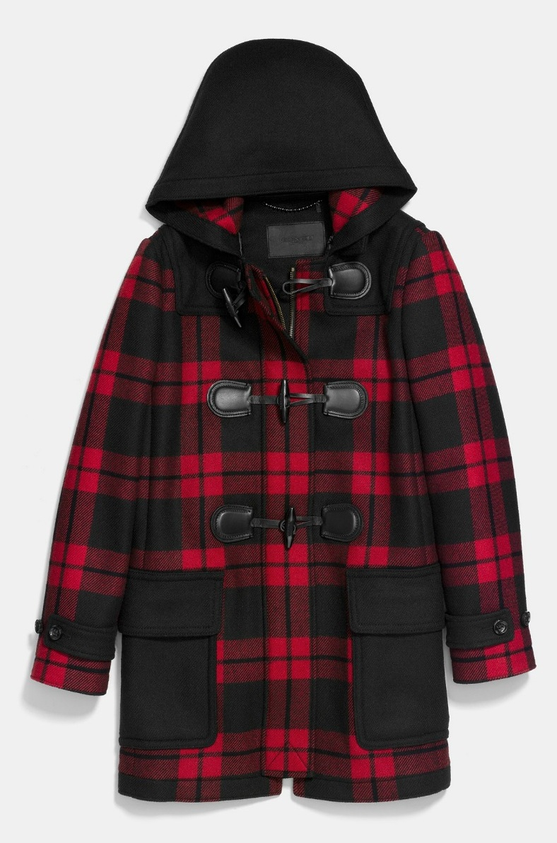 Coach Mount Plaid DUFFLE大衣,NT37,800